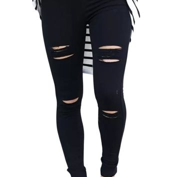 Tyler Distressed Ripped Skinny Jeans