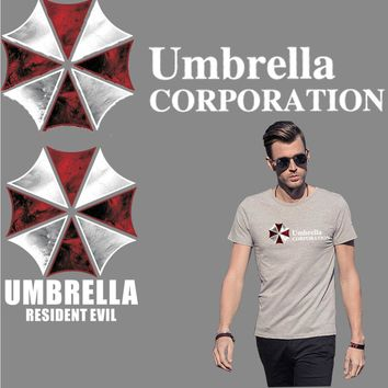 Resident Evil Umbrella logo chest patches for clothing iron-on transfer for t-shirt backpack badge sticker parche termoadhesivos