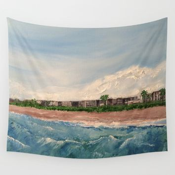 Cocoa Beach  Oil on canvas Wall Tapestry by Annette Forlenza