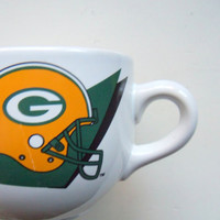 Vintage Green Bay Packers Soup Mug 1993