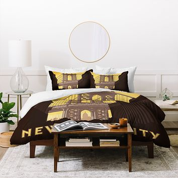 Anderson Design Group NYC Manhattan Bridge Duvet Cover