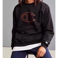 Champion men and women tide fashion casual printed logo long-sleeved sweater shirt sweater F