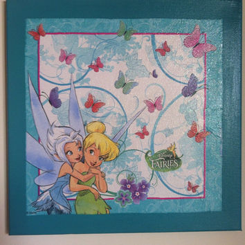 Disney Fairies  Tinkerbell Canvas Painting by litsakiv on Etsy