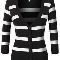 Striped Cardigans: 2 Colors