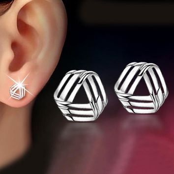 925 Sterling Silver Lovely Rhyme Stud Earrings For Women Casual Style Girl Earings Personality Sterling-silver-jewelry