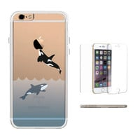 360° Full Protection Killer Whale Clear Phone Case