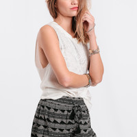 On The Rocks Printed Shorts