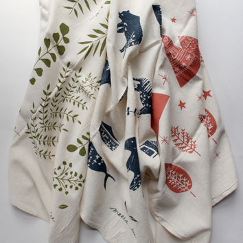 Nature Floursack Tea Towel Set