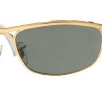 RAY BAN 3119 62 001 OLYMPIAN GOLD SUNGLASSES SOLE GOLD GREEN G15 G 15 EASY RIDER
