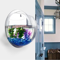 Vktech Plant Wall Hanging Mount Bubble Aquarium Bowl Fish Tank Aquarium Home Dec...