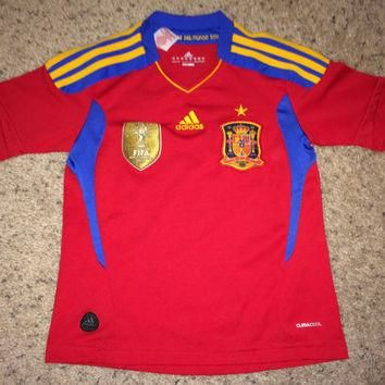 Sale!! Vintage Adidas SPAIN Soccer Jersey Espana kids' football shirt