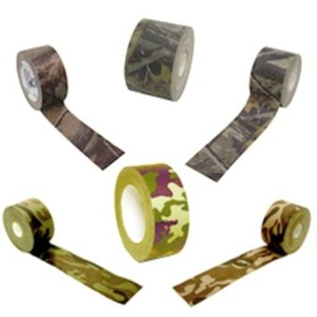 Camouflage Tapes come in a variety of patterns and substrates. These tapes are a must for every tacklebox, hunters toolbox, ATV toolkit, and pickup truck lockbox.