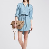Banana Republic Womens Light Chambray Shirtdress