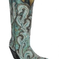 Corral Women's Shaded & Studded Cowgirl Boots - Snip Toe - Sheplers