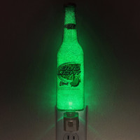 Bud Lime Beer 12oz LED Night Light Bottle Lamp Glow Bar Man Cave Light Sign