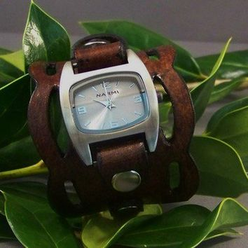 Leather Watch ( Vintage Wave)