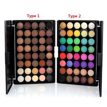 New Mini Portable 40 Colors Eyeshadow Makeup Cosmetic Matte Shimmer Nature Eye Shadow Palette with Eyeshadow Brush [8833940428]