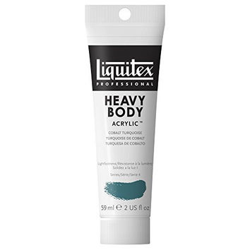 Liquitex Professional Heavy Body Acrylic Paint 2-oz tube, Cobalt Turquoise