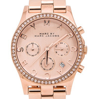 Marc by Marc Jacobs Henry Chrono Watch in Metallic Copper