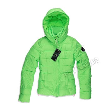 Abercrombie & Fitch Parka Winter Jacket Coat Neon Green