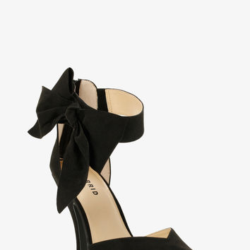 Ankle Bow D'orsay Pumps (Wide Width)