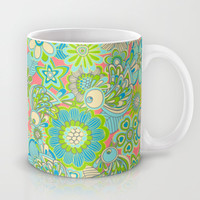 """Welcome birds to my garden""..pink Mug by Juliagrifol designs"