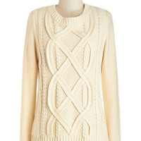ModCloth Mid-length Long Sleeve Familiar Comfort Sweater