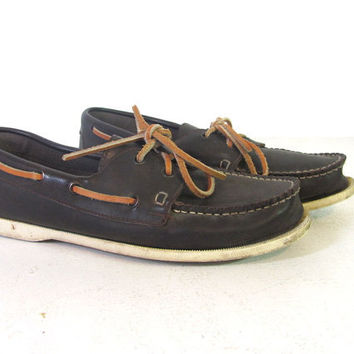 Vintage Brown Dexter Boat Shoes Loafers by dirtybirdiesvintage