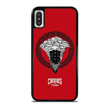 CROOK AND CASTLES BANDANA RED iPhone X Case Cover