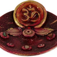 Ceramic Om - Incense Burner