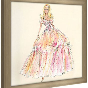 """Picture Perfect International Robert Best """"Birthday Wishes Barbie Doll"""" Framed Fashion Wall Decor"""