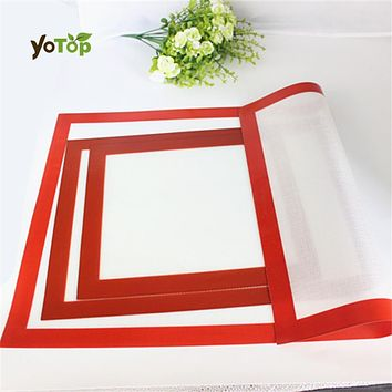 YOTOP Non-Stick Silicone Macaron Baking Mat Pad silpat Sheet Baking pastry tools Rolling Dough Mat Large Size for Cake Cookie