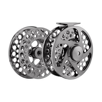 "9/11 110mm fly reel + spare spool 4.33"" 2BB+1RB PRECISION MACHINED BAR-STOCK ALUMINUM fly fishing reel with INCOMING CLICK"