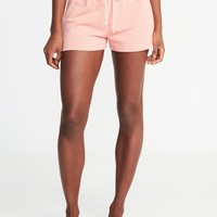French-Terry Drawstring Shorts for Women |old-navy