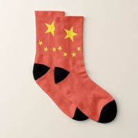 All Over Print Socks with Flag of China