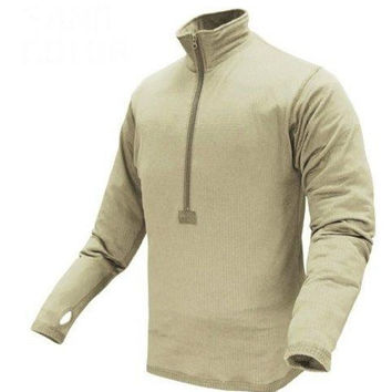 Base II Zip Pullover Color- Sand (Small)