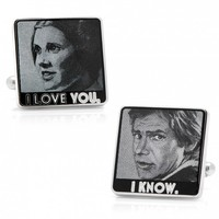 Star Wars Mens Plated I Love You I Know Cufflinks