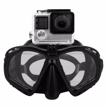 Professional Underwater Diving Mask Scuba Snorkel Swimming Goggles Scuba Seal Dive Masks Diving Equipement For Most Sport Camera