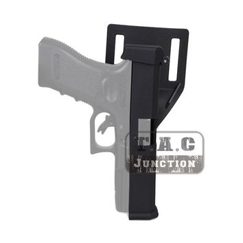 Tactical IPSC USPSA Competition Quick Reload Pistol Holster Black Automatic Holster w/ Belt Loop for Glock 17 18 19 22 23