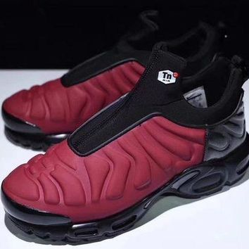 "VOND4H Nike Air Max Plus Slip SP TN Retro Running Shoes ""Red&Black�,Nike Air Max Plus Slip SP TN Retro Running Shoes ""Red&Black""size:40-45"""