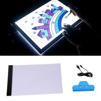 Vococal USB Powered Ultra-thin A4 LED Eyesight-protected Artist Stencil Drawing Pad Animation Tracing Light Box Tablet Board