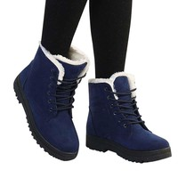 Women Shoes Winter Boots Women Nop-slip Plush Warm Ankle Boots Women Plus Size Snow Boots 2018 New Platform Shoes Woman Boots