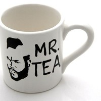Tea Cup Featuring Mr T an 80s Retro Flashback by LennyMud on Etsy