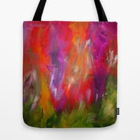 Flower Garden Tote Bag by Jenartanddesign