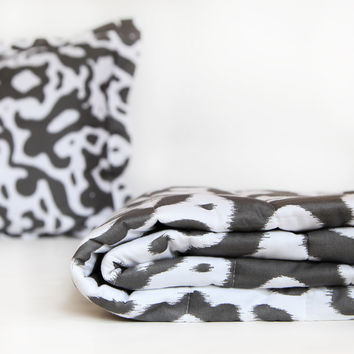 Urban Ikat Quilted Coverlet and Sham Set