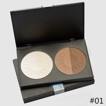 Cosmetic 4 Colours Waterproof Whiten Shadow Contour Pressed Powder Palette