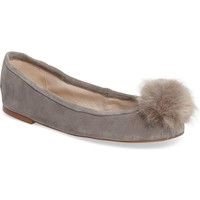 Sam Edelman Farina Flat with Faux Fur Pompom (Women) | Nordstrom