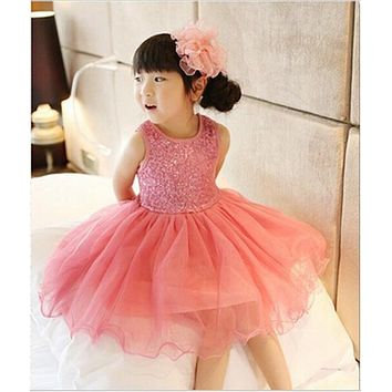 Girl Dress 2018 Summer Baby Girls Baptism Dresses Sequins Children Clothes Princess Tutu Infant Clothing kids Costume vestidos