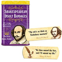 Shakespearean Insults Bandages - PRE-ORDER, SHIPS in FEBRUARY