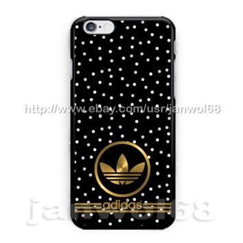 Adidas Logo Gold For all iPhone Print On Hard Plastic Case